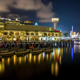 Singapore Custom House Pier by Charles Ong - City,  Street & Park  Night ( pier, house, nightscape, custom )