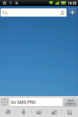 GO SMS Pro Blue Theme