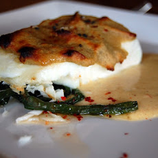 Halibut with Herb Sauce