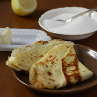 Zesty Lemon Crepes with Butter & Sugar