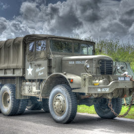 1940s US Army Truck by David Garnett - Transportation Other ( gwr, wwii, 1940s, us truck, wwii re-enactment, historic vehicle, us army )