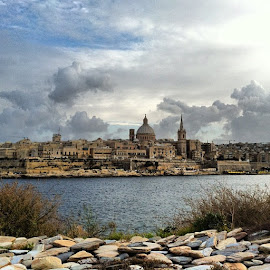 Valletta, Malta by Felix Cesare - City,  Street & Park  Historic Districts ( clouds, instagram, sliema, church, malta, valletta, sea )