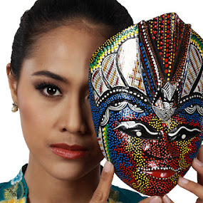 my mask by Ramadhan Bagaskara Arya Parmuka - People Portraits of Women