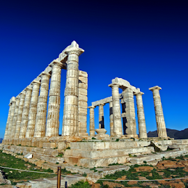 TEMPLE OF CAPE SOUNION, Greece by Dim Pol - Buildings & Architecture Statues & Monuments ( d, p, o, l, m, i,  )