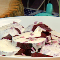 Grilled Beets with Fresh Goat Cheese Dressing