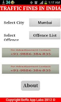 Screenshot of Traffic Fines India