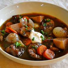 Ordinary Vegan Beef Stew with Red Wine and Root Vegetables