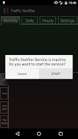 Screenshot of Traffic Notifier +PacketFilter