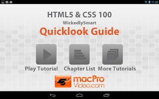 Screenshot of HTML5 & CSS Quicklook Guide