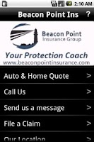 Screenshot of Beacon Point Ins Mobile