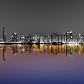 Extravagant Dubai by Scott Lorenzo - City,  Street & Park  Skylines ( urban, reflection, cityscape, landscape, panorama )