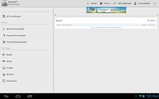 Screenshot of AndroGET