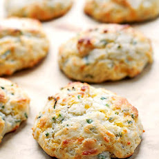 Sour Cream Cheddar and Chives Drop Biscuits