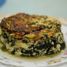 Spinach Baked with Three Cheeses