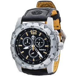 Timberland Front Country Chronograph Watch - Leather Strap (For Men)