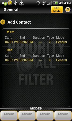 Priority Call Filter
