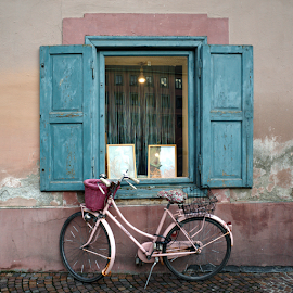 Pretty in pink by Mike Bing - City,  Street & Park  Neighborhoods ( shop, altstatt, blue, innsbruck, pink, austria )
