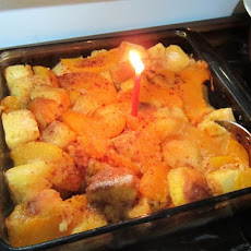 Peach Pudding Cake