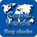 Cape Verde flag clocks