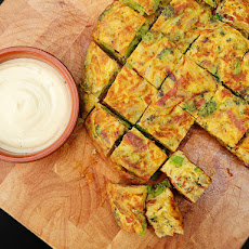 Spanish Tortilla with Broccoli, Chorizo, and Onion