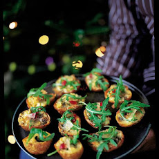 Baked Potato Skins With Gorgonzola, Rocket & Mustard Fruit