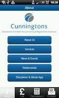 Screenshot of Cunningtons