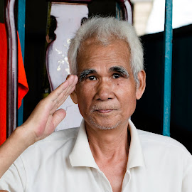 Salute by Rashedul Tarek - People Portraits of Men ( cpc, street, portrait, chinese )
