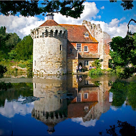 Scotney Castle, National Trust property, England by Adria Bannocks - Buildings & Architecture Public & Historical ( scotney castle, england, building, reflections, property, historical, national trust, architecture, landscape, picnic,  )