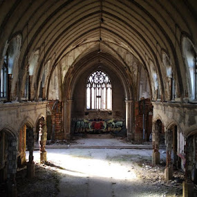 Abandoned old church. by Chuck Holton - Buildings & Architecture Places of Worship