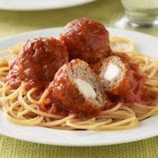 Mozzarella-Stuffed Meatballs