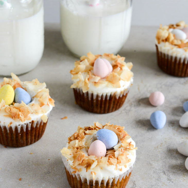 Banana Carrot Cake Cupcakes with Coconut Cream Cheese Frosting Recipe ...