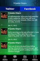 Screenshot of Priyanka Chopra Fan App