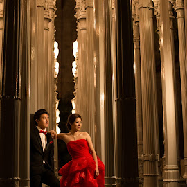 Warm Romance by Yansen Setiawan - Wedding Bride & Groom ( creative, art, losangeles, urban light, illusion, lights, love, fineart, yansensetiawanphotography, prewedding, d800, wedding, lifestyle, photographer, la, yansensetiawan, lacma, nikon, yansen, engagement )