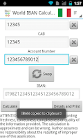 Screenshot of World IBAN Calculator