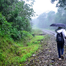 wherever the path leads. by Nitish Bhat - Landscapes Travel ( path, rail, track, nature, landscape )