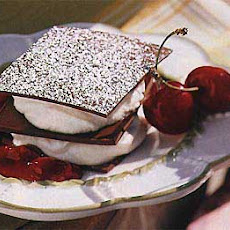 Chocolate Napoleons with Mascarpone Cream and Cherry Compote