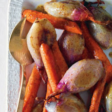 Mustard-Glazed Shallots and Carrots