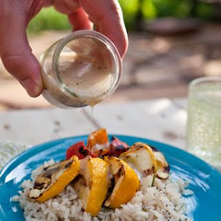 Garlic Grilled Pattypan with Chia Brown Rice