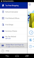 Screenshot of Global Blue