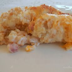 Ham & Hashbrown Breakfast Casserole
