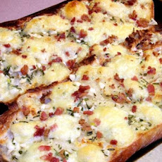 Garlic Bread With Bacon Bits, Rosemary and Creamy Brie