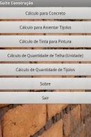 Screenshot of Suite Construção