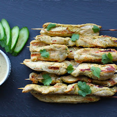 Thai Chicken Skewers with Peanut-Free Satay Sauce