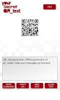 Screenshot of qr generator text