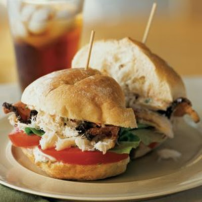 Crab, Peppered Bacon and Tomato Sandwiches