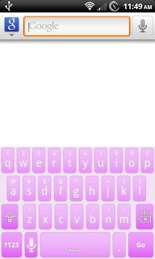 Purple Light Keyboard Skin