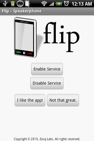Flip - Speakerphone