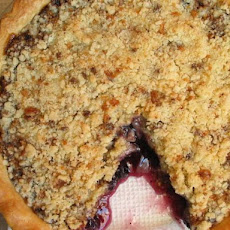Almond Roca Fruit Pie (A K A: Toffee Crumb Fruit Pie)