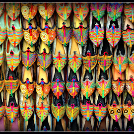 Shoes  by Prasanta Das - Artistic Objects Clothing & Accessories ( shoes, colorful, display )