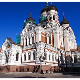 Alexander Nevsky Cathedral at Tallinn, Estonia by Foto Woz - City,  Street & Park  Street Scenes